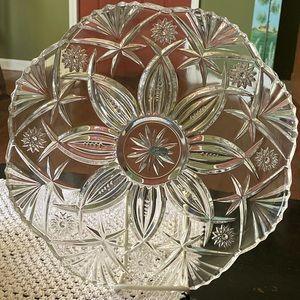 Vincennes Cristal D' Durand Crystal Platter